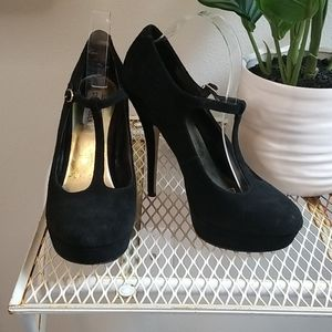Steve Madden Women's Platform Black Pumps 9.5